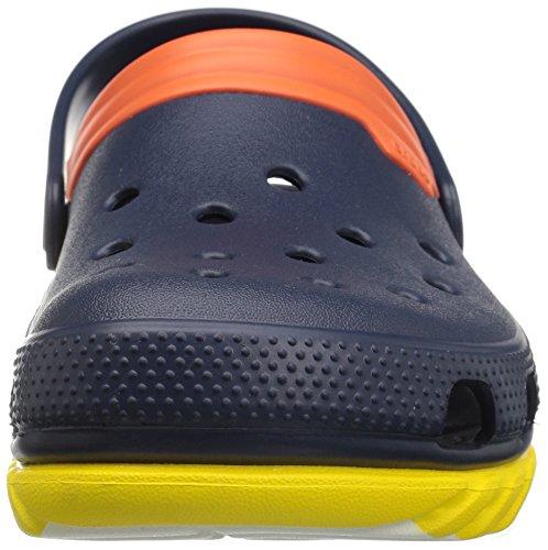 Crocs - Unisex Adult Duet Max Ombre Clog, EUR: 41, Navy/Orange