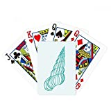 Blue Marine Life Snail Illustration Poker Playing Card Tabletop Board Game Gift