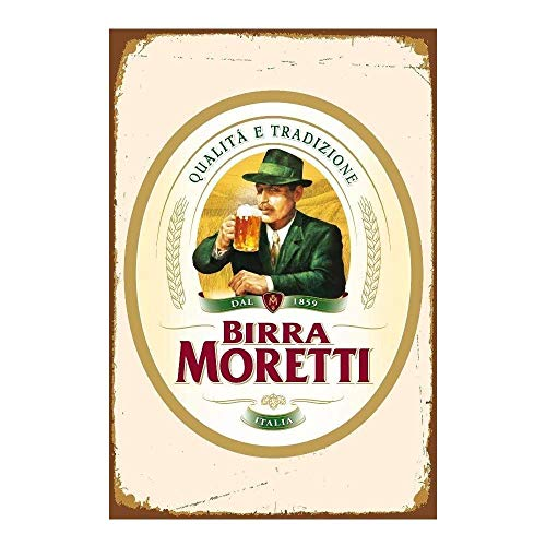 WallDector Italian Italy Beer Sticker Iron Poster Painting Tin Sign Vintage Wall Decor for Cafe Bar Pub Home Beer Decoration Crafts