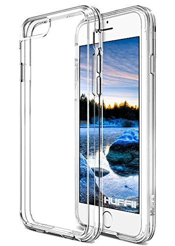 Huffii Case for Apple iPhone 6 and iPhone 6s, Anti Scratch Hybrid Drop Protection Shock Absorption Bumper Cover (Clear)