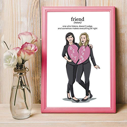Personalized Best Friend Gifts - Personalized Portrait For BFF Female - Creative Unique Birthday Ideas To Give Female