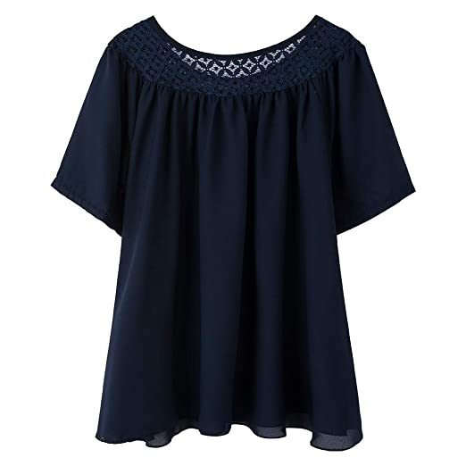 Caren Camiseta De Manga Corta De Talla Grande para Mujer ...