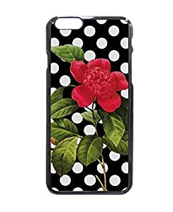 """Girly Black and White Polka Dots Pretty Red Flower Hard Customized Case Cover , iPhone 6 (4.7"""") Case Cover, Protection Quique Cover, Perfect fit, Show your own personalized phone Case for iPhone 6 - 4.7 inches by ruishername"""