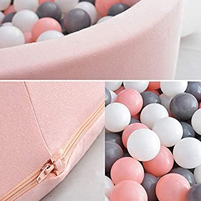 Zhenyu Luxury Handmade Children's Foam Ball Pit Quality Durable Non-Toxic Safety Material, SOFE and Thick (Pink): Toys & Games