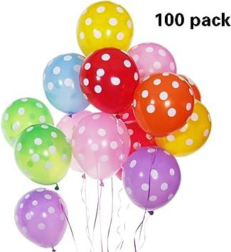 100 X HAPPY BIRTHDAY PRINTED MIX COLOUR BALLOONS BALLOON 23 CM PARTY KIDS DECO A