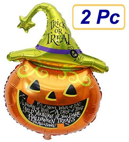 SUKRAGRAHA Aluminum Foil Auto-sealing Reusable Pumpkin Halloween Party Balloon 2 -