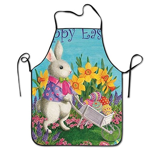 Easter Bunny Aprons For Women/men Black Grilling Funny Cloth Funny Chef - Apron Easter