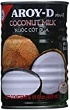 AROY-D Coconut Milk 14 Oz Can (Pack of 6)