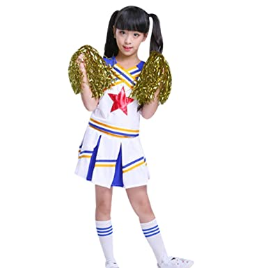 G Kids Kinder Madchen Cheerleader Kostum Uniform Karneval Fasching
