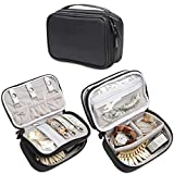 Teamoy Travel Jewelry Organizer Case, Jewelry & Accessories Holder Pouch with Various Compartments