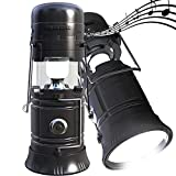 LED Camping lantern Portable Outdoor Flashlight Bluetooth Speaker FM Radio Call Reminder Solar Charging 2200Mah Power Bank Camping Gear for Camping Hunting Hurricane Emergencies Support TF Card / FM