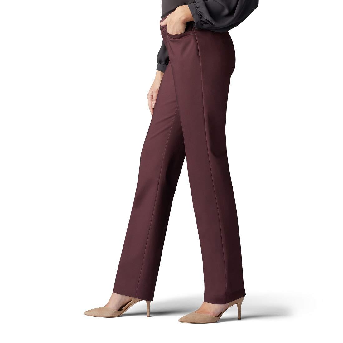 LEE Womens Petite Secretly Shapes Regular Fit Straight Leg Pant