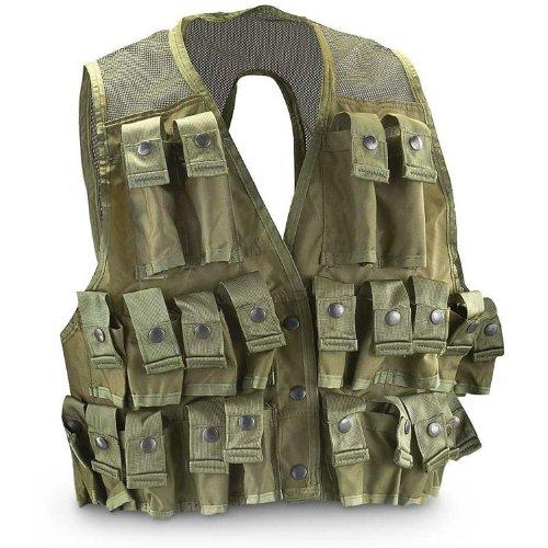 Lbe Harness - Military Outdoor Clothing U.S. G.I. Nylon Grenade Vest, Olive Drab, Medium