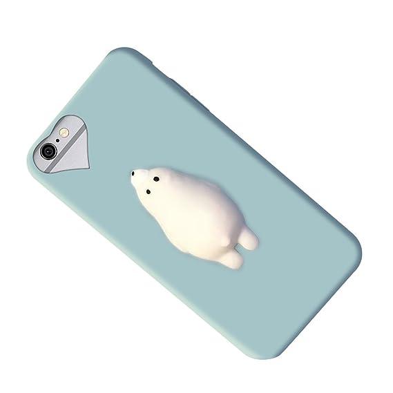a32c48e83f Squishy Bear iPhone 6 / 6s Case, 3D Cute Soft Silicone Poke Squishy Bear  Phone