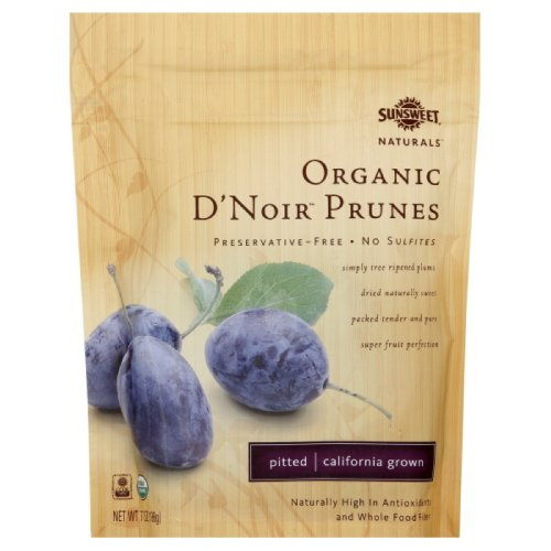 Sunsweet Prunes, Organic D?Noir, 7-Ounce Packages (Pack of 12) by Sunsweet