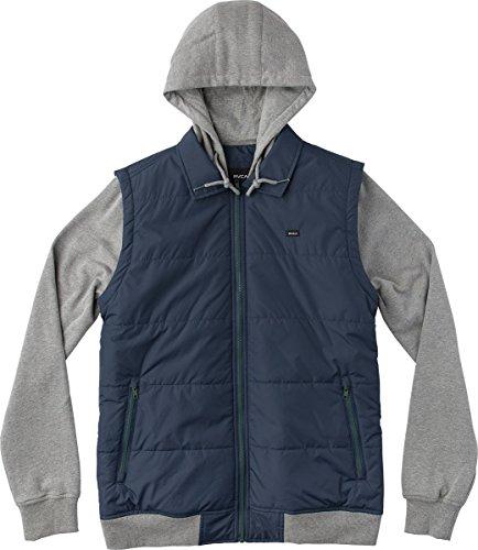 Ribbed Hem Zip Jacket - 1