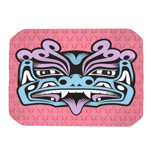 13 Inch Gong - Kess InHouse Louie Gong Blue Fu Dog Placemat, 18 by 13-Inch