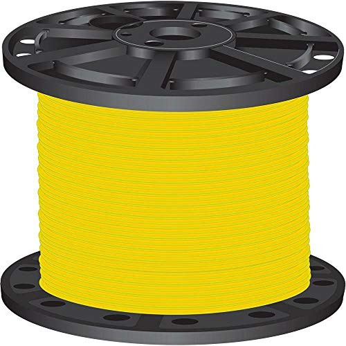 Yellow 500 ft. 6 Stranded CU SIMpull THHN Single Conductor Electrical Wire