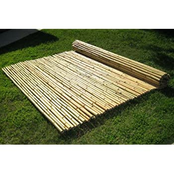"3/4"" x 4' x 8' Natural Bamboo Fence"