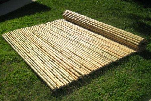 - Natural Black Bamboo Fencing 1