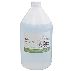 TOA Supply Soothing Hydrating Natural Body Spa Massage Mineral Oil for Professional Massage Therapists Unscented Bottle, 1 gal