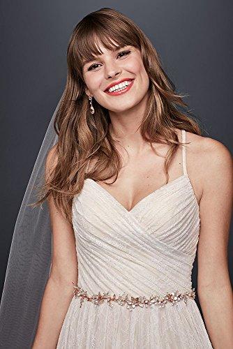 Robe De Mariée En Dentelle Douce Mariée De David Avec Style Corsage Plissé Ivoire Wg3823 Solide