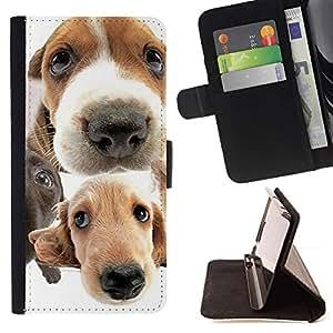 Momo Phone Case / Flip Funda de Cuero Case Cover - Golden Retriever Jack Russell Terrier; - Huawei Ascend P8 Lite (Not for Normal P8)