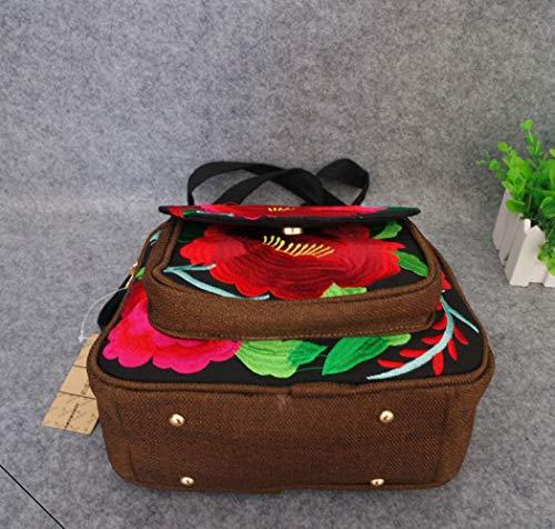 Tissu Main 10 De De Style Tissu 22cm en Sac Taille Broderie De ZHAOHUIFANG 25 à De National wFI8ZqH