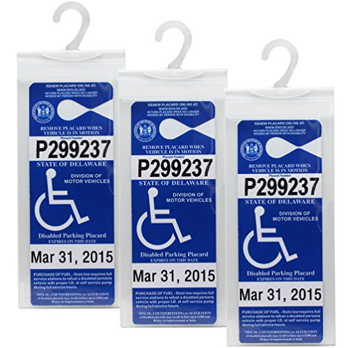 LotFancy Handicap Parking Placard Holder