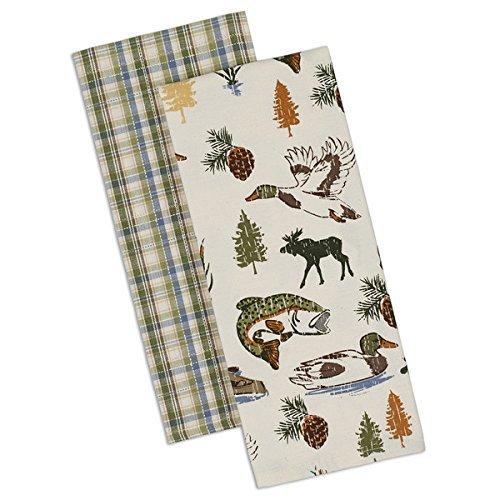 Design Imports Lakewood Dishtowel - Set of 2 by Design Imports