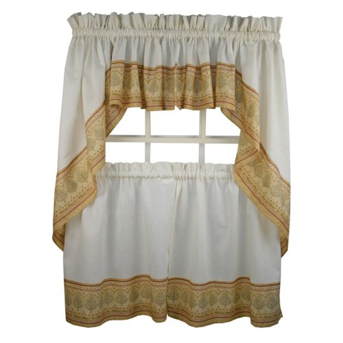 Welcome Home - 24'' tier (pr) Kitchen Curtain