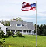 Commercial Grade Sectional 25 ft. Flagpole - Satin