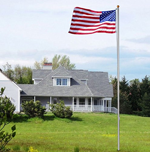 Super Tough Commercial Grade Sectional 25 ft. Flagpole - Satin - US Made