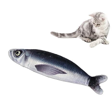 OCHO8 gato que rasca las almohadas del diseño de los pescados del juguete Interior del catnip