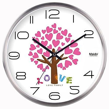 Amazon.com: Love the mute clocks wall clock living room bedroom ...
