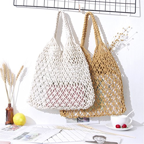 Vintage Bag Bohemians Beach Shoulder Knitted Straw Women Bags Handmade Sale Gray Summer Rattan Bags For Bags Black vqP4v