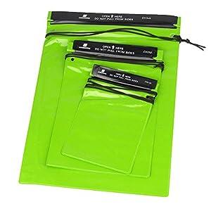 amazoncom mini waterproof bag pouches green waterproof