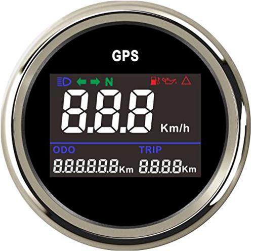 Samdo 52mm Digital GPS Speedometer Turning Indicator Oil Pressure Fuel Level Trip Odometer