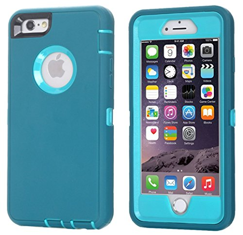 Ai-case C-131 Built-in Screen Protector Tough 4-in-1 Rugged Shockproof Cover with Kickstand for iPhone 6/6S Plus - Blue