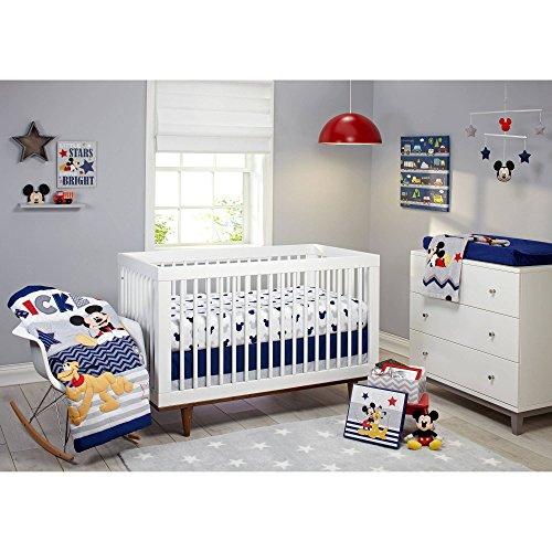 Mickey Nursery - Disney Let's Go Mickey II 4-Piece Crib Bedding Set