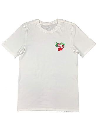 6a187cce Nike SB Mens QT Floral Graphic Cotton Shirt White Skateboard (Large)