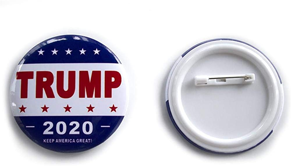 American Flag Pin Metal Lapel Hat Tie Tack Pinback Buttons Merchandise 6 Packs Donald Trump Gag Gifts for Men Trump 2020 Pin