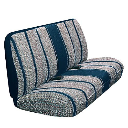 Saddleman A 02252-03 Universal Front Large Bench Seat Cover Without Headrests-Saddle Blanket Fabric (Blue)