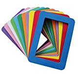 Ru Xing Set of 11 Colorful EVA Magnetic Picture Frames for Photos,Drawings,Certificates,Posters,Notifications (EVA 4 x 6 inch, Single Layer)