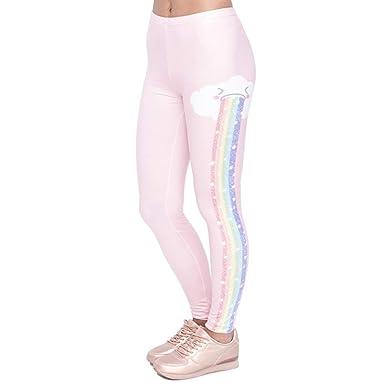 Pantalones De Yoga Elegante Diseño Mujeres Legging Rainbow ...
