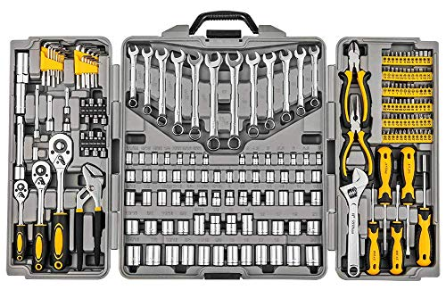 Mechanics Tool Set 205-Piece, Household Tool Kit Set with Tools Box Case for Men and Women