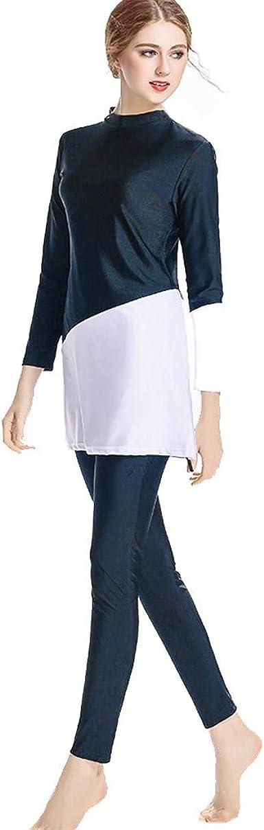 TOPKEAL Traje de Baño de Mujer Musulmán, Pantalones de Baño ...