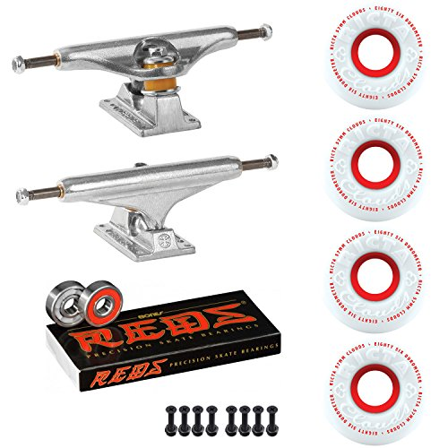 Independent Skateboard Package 129 Trucks Ricta Clouds 57mm 86a Wheels Reds