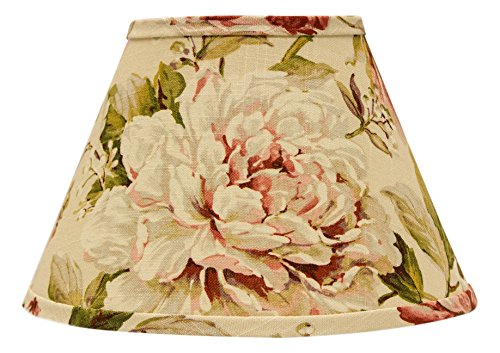 AHS Lighting SD1476-08RE Large Rose Floral Rectangle Lamp Shade with Regular Clip, 8'