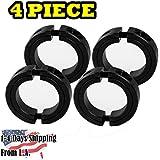 """1"""" Bore Double Split Shaft Collar Black Oxide Set Screw Style (4 PCS)"""